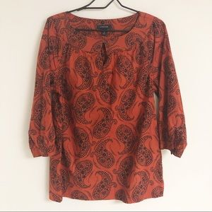 Land's End Paisley Tunic Top